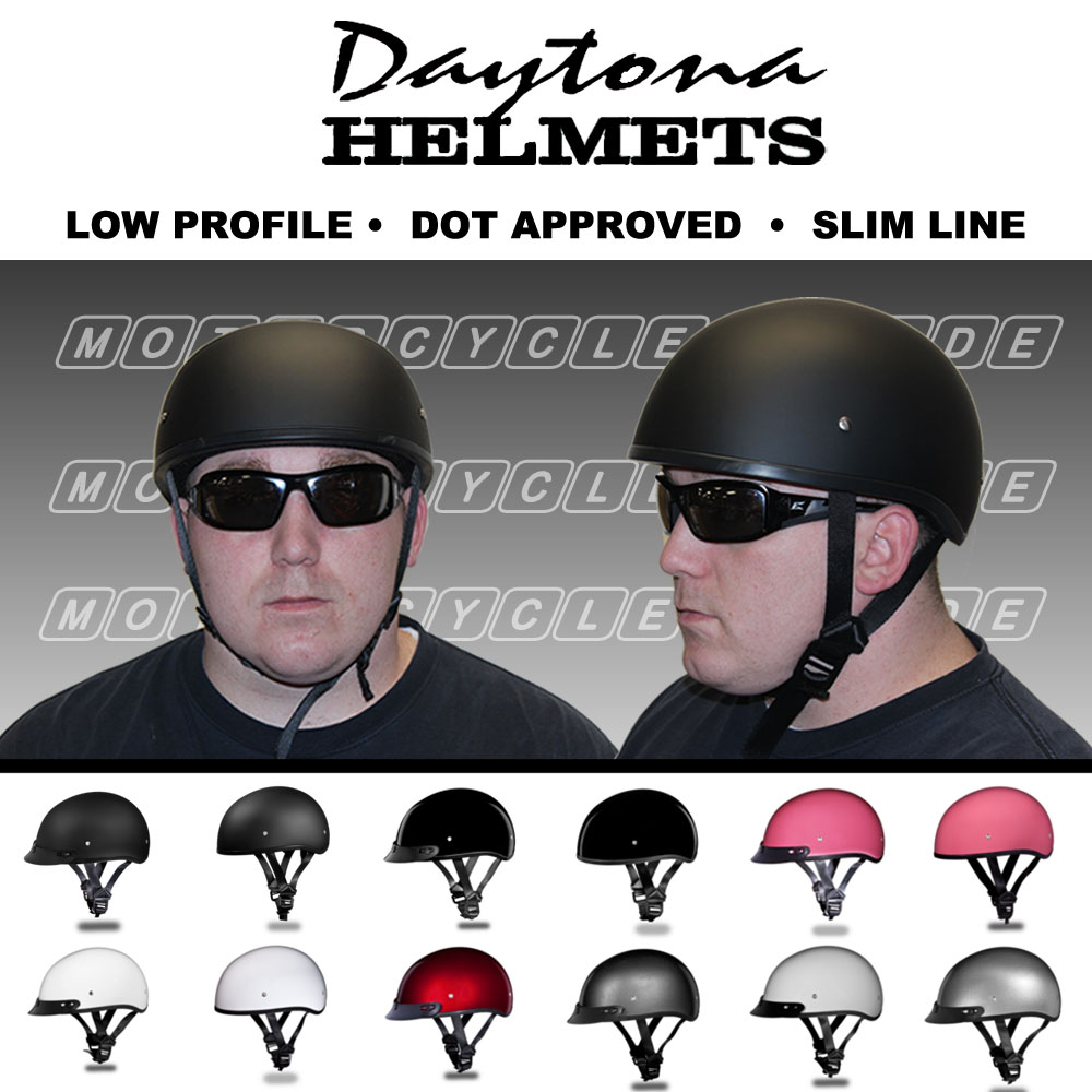 Ultra Low Profile Motorcycle Helmets